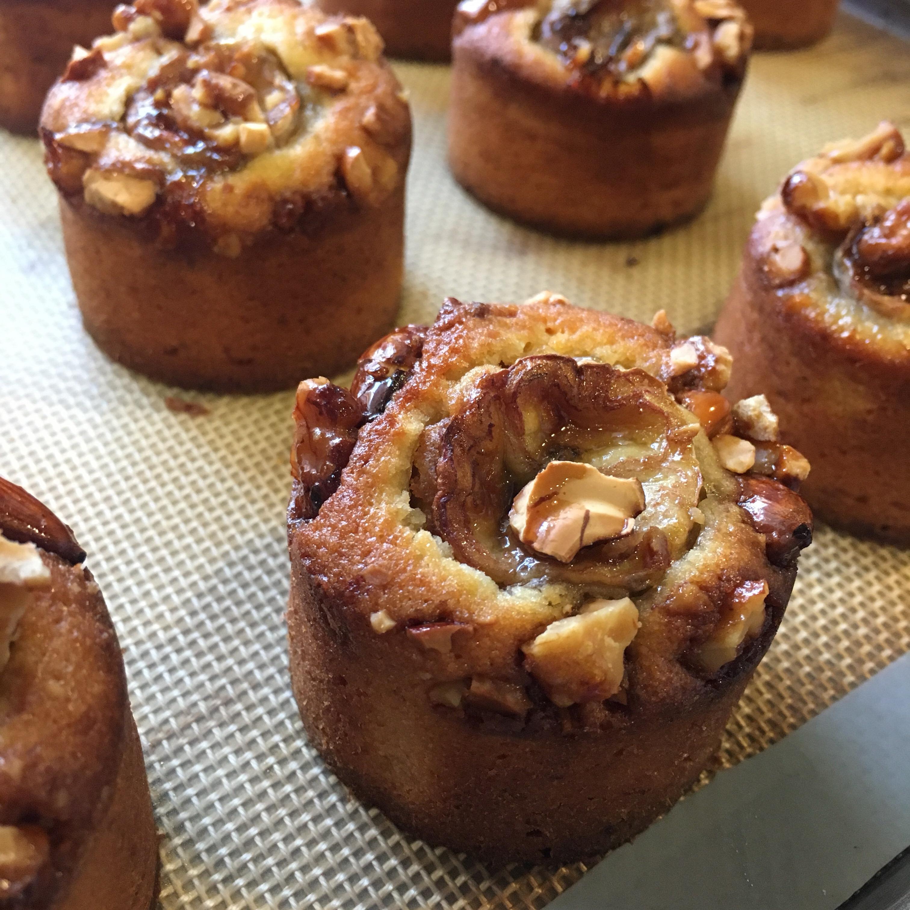 完熟バナナのケーキ キャラメルナッツトッピング