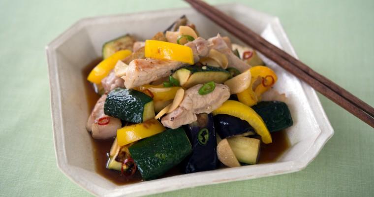 旬の夏野菜で作る「豚肉と夏野菜の南蛮漬け」