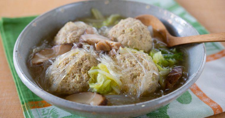 豚ひき肉で作る「ボリューム肉団子の煮込み」
