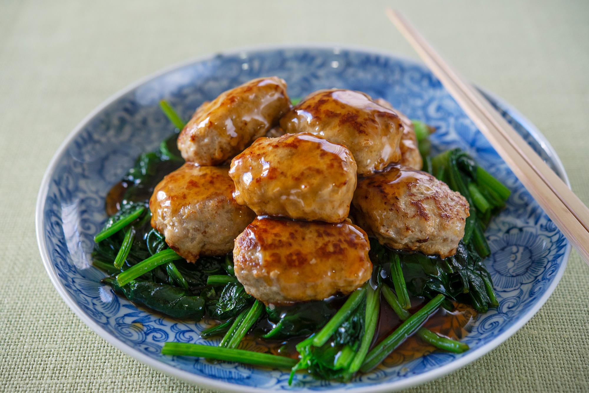豚ひき肉で作る「和風豚ひきごまつくねの甘辛だれ」