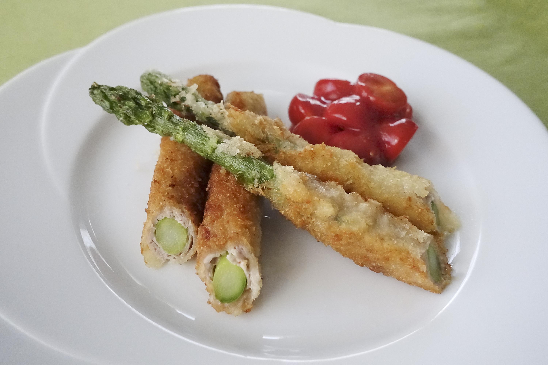 アスパラをおいしく食べる「グリーンアスパラガスの肉巻きフライ」