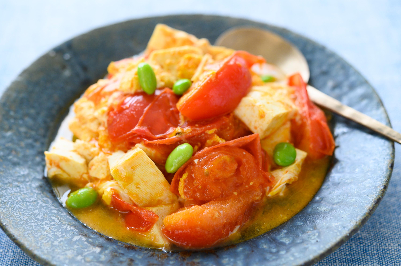 お好みアレンジも楽しい簡単おかず「トマトと豆腐の卵炒め」