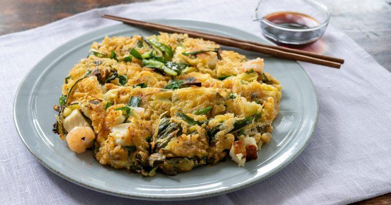 家族で楽しく作る「海鮮チヂミ」