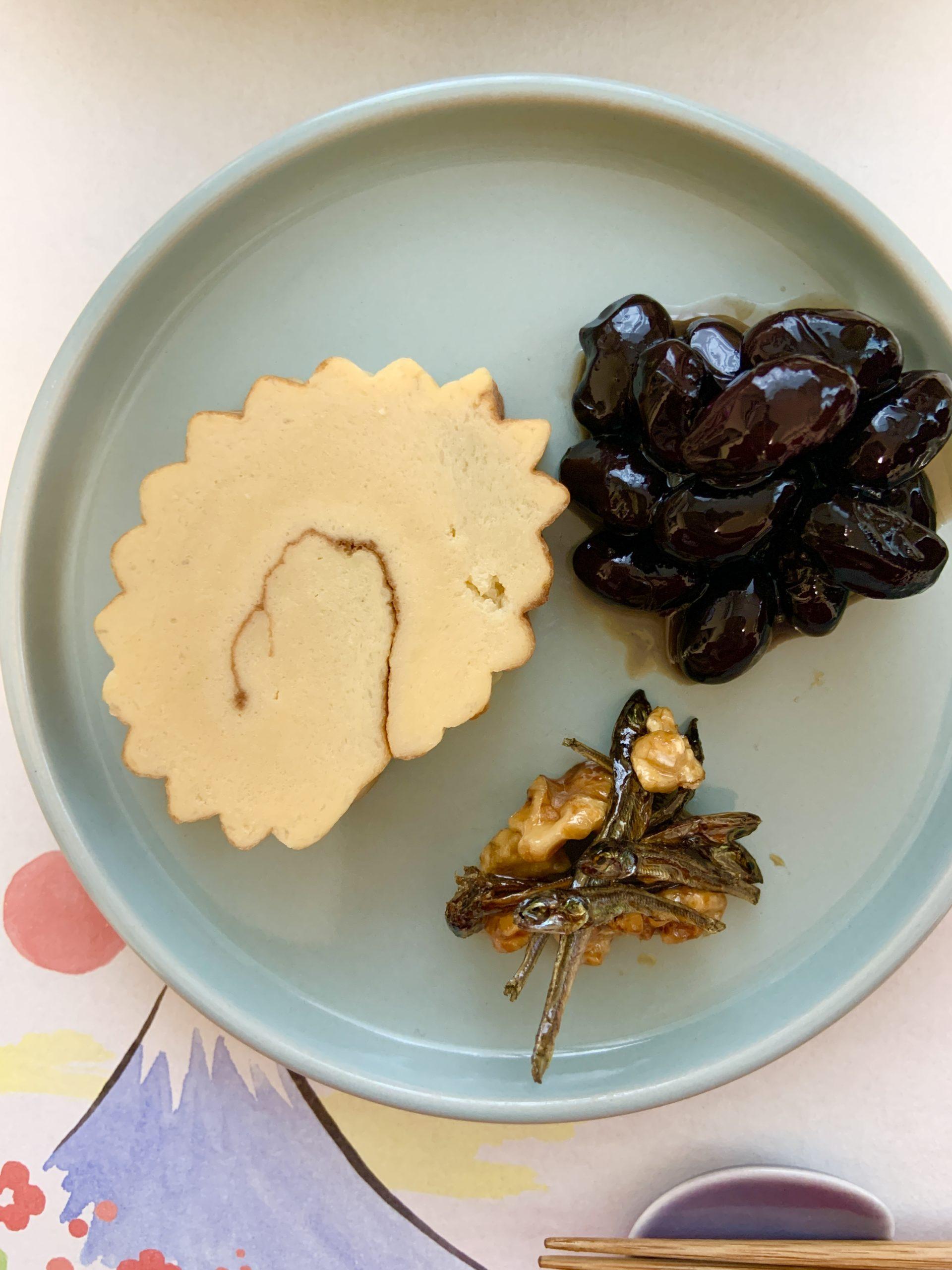 お正月料理:伊達巻・黒まめセット